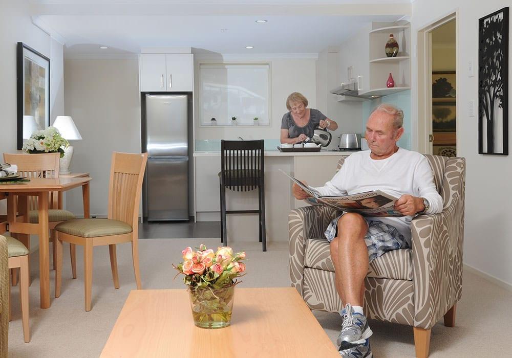 Retirement village independent living room